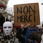 French sudents and labour union workers attend a demonstration against the French labour law proposal in Paris, France, as part of a nationwide labor reform protest