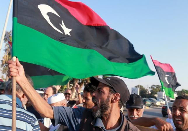 Protest against the U.N. to draft agreement talks headed by the Head of United Nations Support Mission in Libya, Bernardino Leon in Benghazi